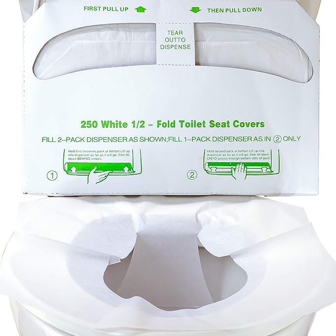 50pcs Disposable Toilet Seat Paper Covers Bathroom Travel Biodegradable Sanitary