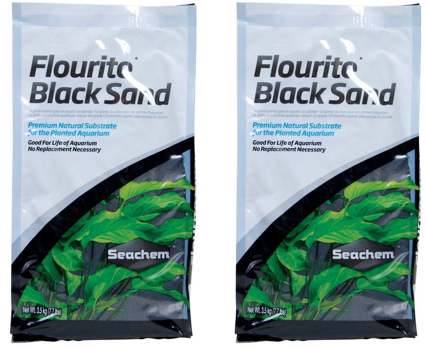 Seachem Fluorite Black Sand Substrate, 15.4lb Total (Two 7.7lb Bags) by Seachem