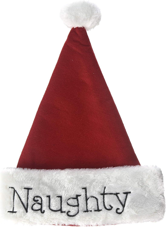 Set of Two Naughty and Nice Santa Hats