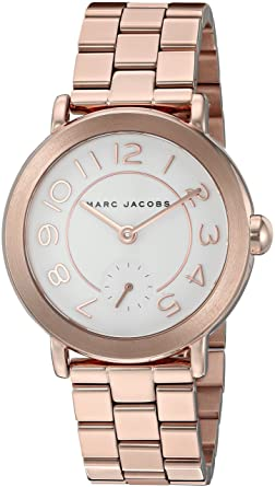 932f8feafa46d Amazon.com: Marc Jacobs Women's Riley Rose Gold-Tone Watch - MJ3471: Marc  Jacobs: Watches