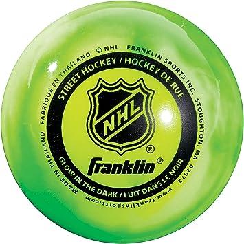 Franklin Sports Glow In The Dark Street Hockey Ball Puck High ...