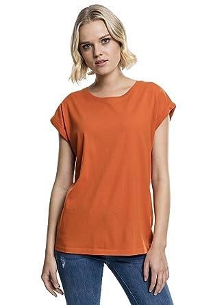 bfb0b2021bea24 Urban Classics TB771 Ladies Extended Shoulder Tee - Kurzarm Basic T-Shirt  für Damen mit