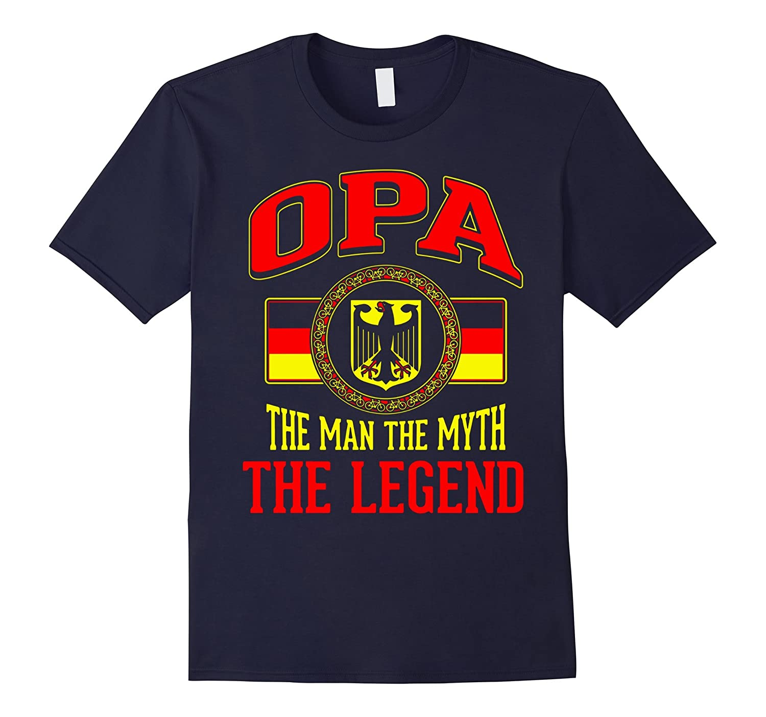 OPA THE MAN THE MYTH THE LEGEND T SHIRT with flag of germany-RT