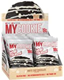 Pro Supps MYCOOKIE Delicious Soft Baked Protein Cookie, White Chip Chocolate, 18g Protein, 7g Sugar, Gluten-Free, No Trans Fat, Healthy On-The-Go Snack, 12 ct, Net Wt 1.94 oz.