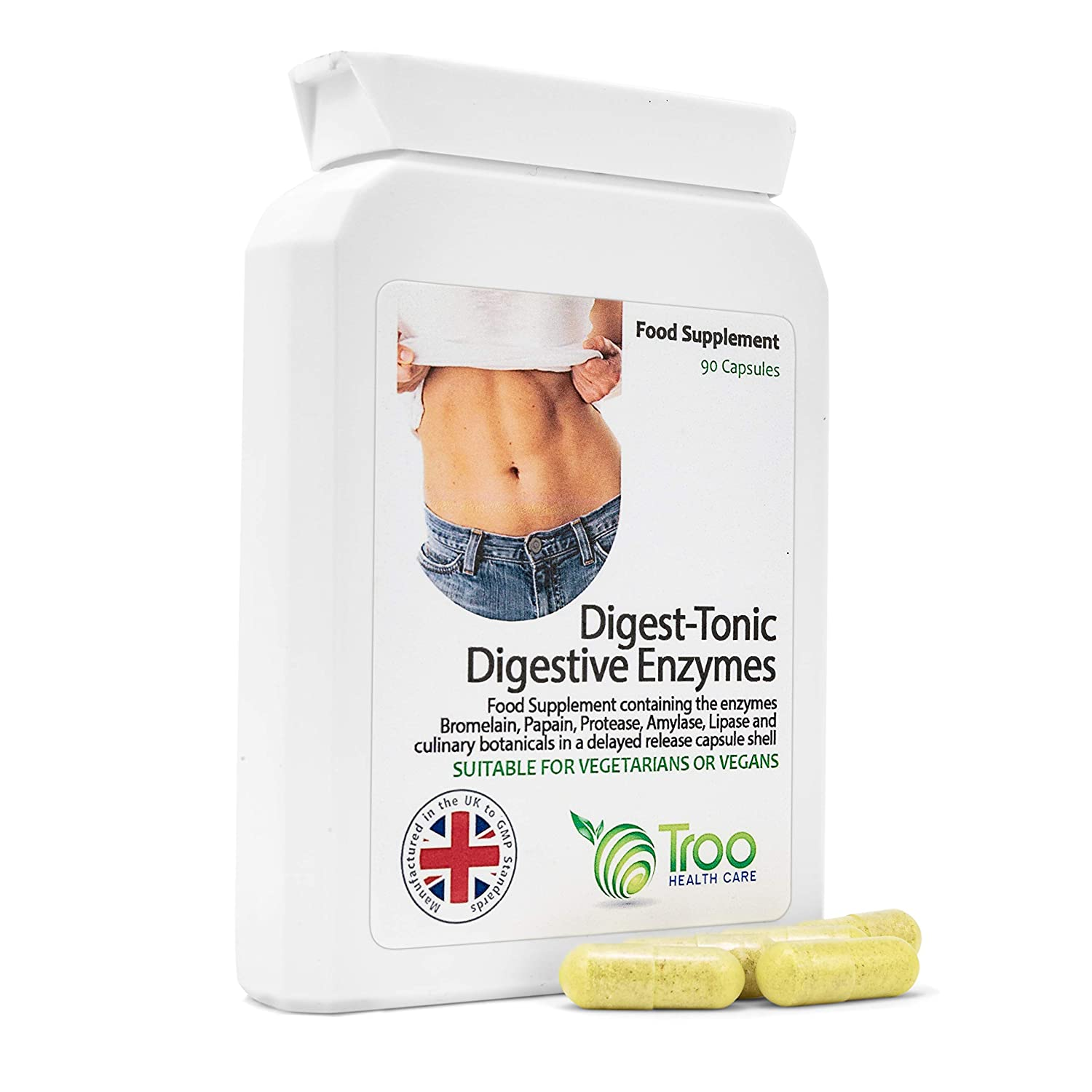 Digest-Tonic Digestive Enzymes 90 Capsules: Amazon.es ...