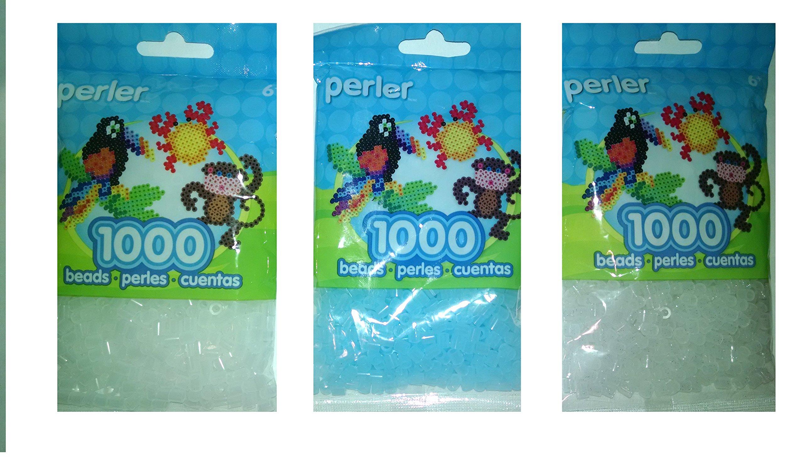Perler Bead Bag, Group Clear, Clear Blue, Clear Glitter