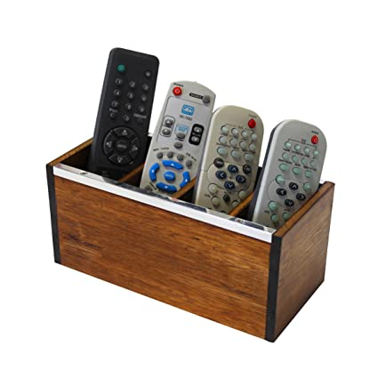 WoodArt Wooden Remote Control Holder   Caddy For Desk, Office, Pens,  Pencils,