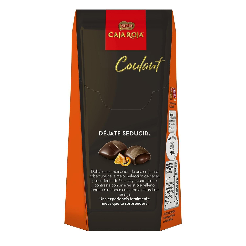 CAJA ROJA Bombones Coulant chocolate con leche caramelo 142g: Amazon.es: Alimentación y bebidas