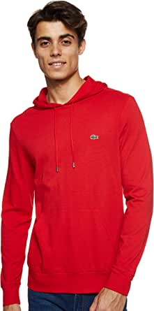 Lacoste Mens Long Sleeve Hooded Jersey Cotton T-Shirt Hoodie T-Shirt