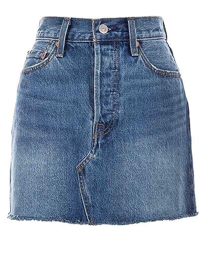 Levis Luxury Fashion 349630023 - Falda para mujer, color azul ...