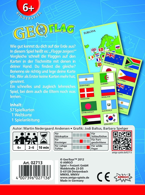 Amigo 05740 GeoCards Europa Kinderspiel Kartenspiel
