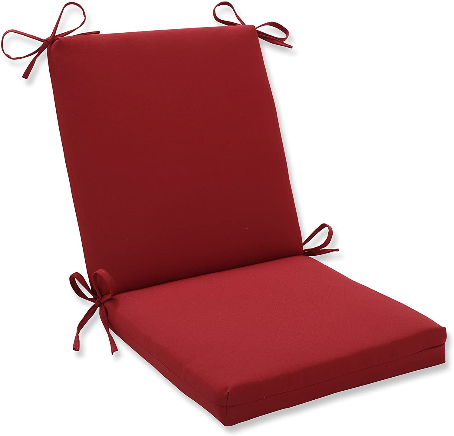 Pillow Perfect Indoor Outdoor Red Solid Chair Cushion Squared