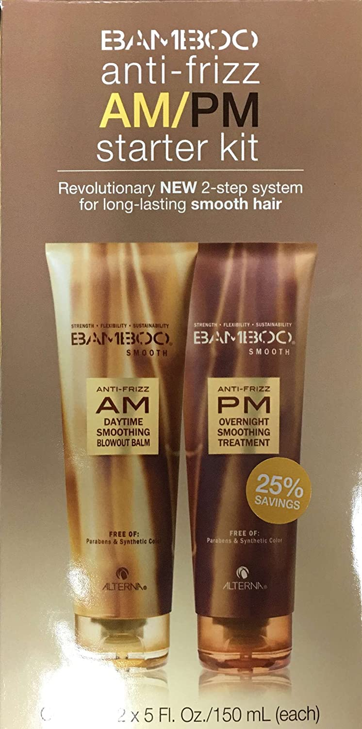 Alterna Bamboo Smooth Anti-Frizz AM/PM Starter Kit 873509025382