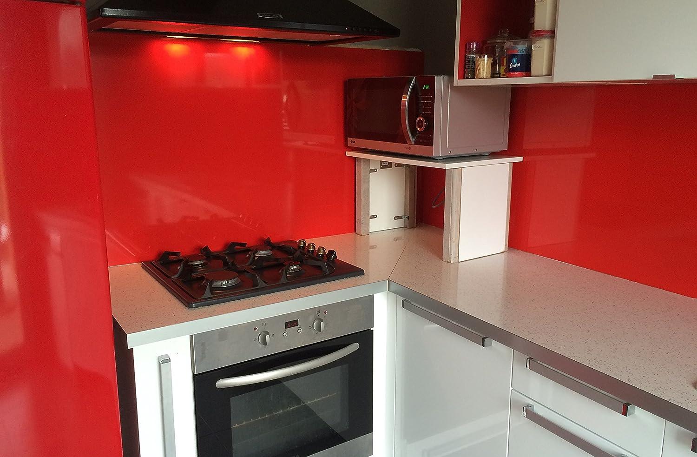 Credenza da cucina in rosso Segnaletica (RAL 3020) 75 cm x 70 cm di 1,5 mm