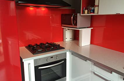 Credenza da cucina in rosso Segnaletica (RAL 3020) H 50 cm x l 140 ...