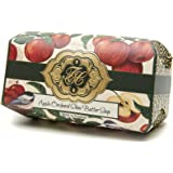 Apple Orchard, Luxury Large Oversized, Beautifully Scented Shea Butter, Soap Bar, Made in England, Triple Milled. Environmentally Friendly (Green). 8.0oz.