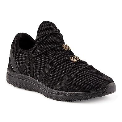 FiveSix Herren Sneaker Sportschuhe Laufschuhe Camouflage Low-Top  Freizeitschuhe Textilschuhe Schnürschuhe Schuhe Schwarz EU 40