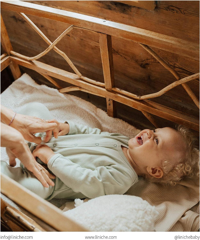 Unisex Solid Footed Onesie Bodysuit GOTS Certified 100/% Organic Cotton Interlock Liniche Baby