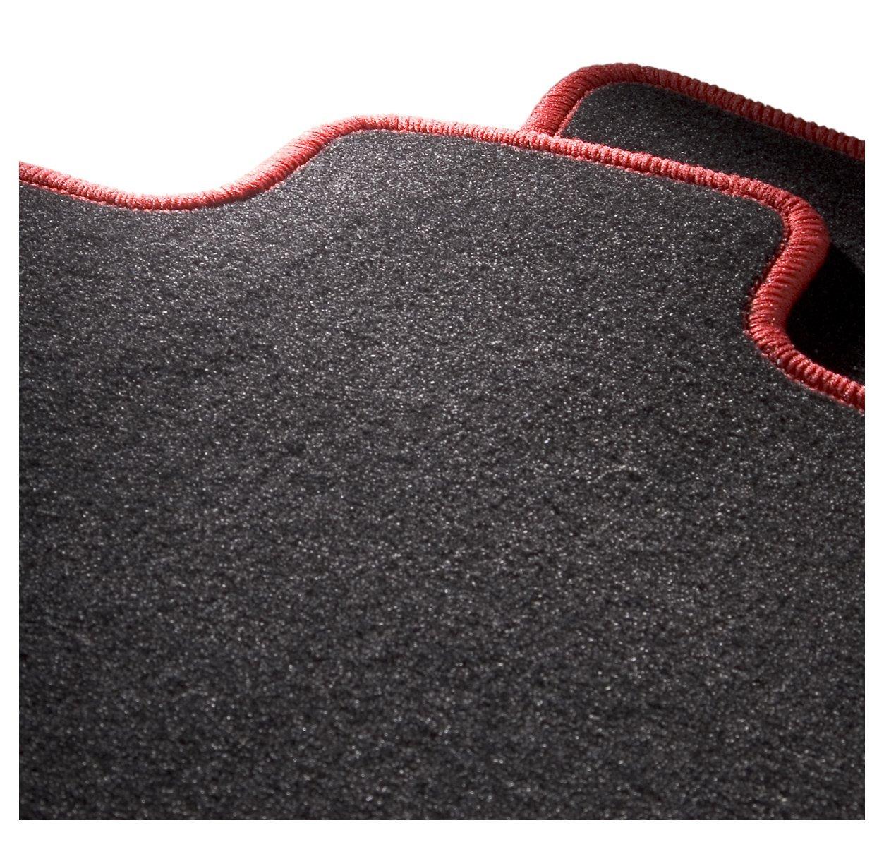 4 teiliges Auto Fussmatten Set mit Mattenhalter Passform Auto Fussmatten Fussmatte Velours in schwarz anthrazit CarFashion 225935 ExquiPlus Schwarze Hochglanz Kettelung