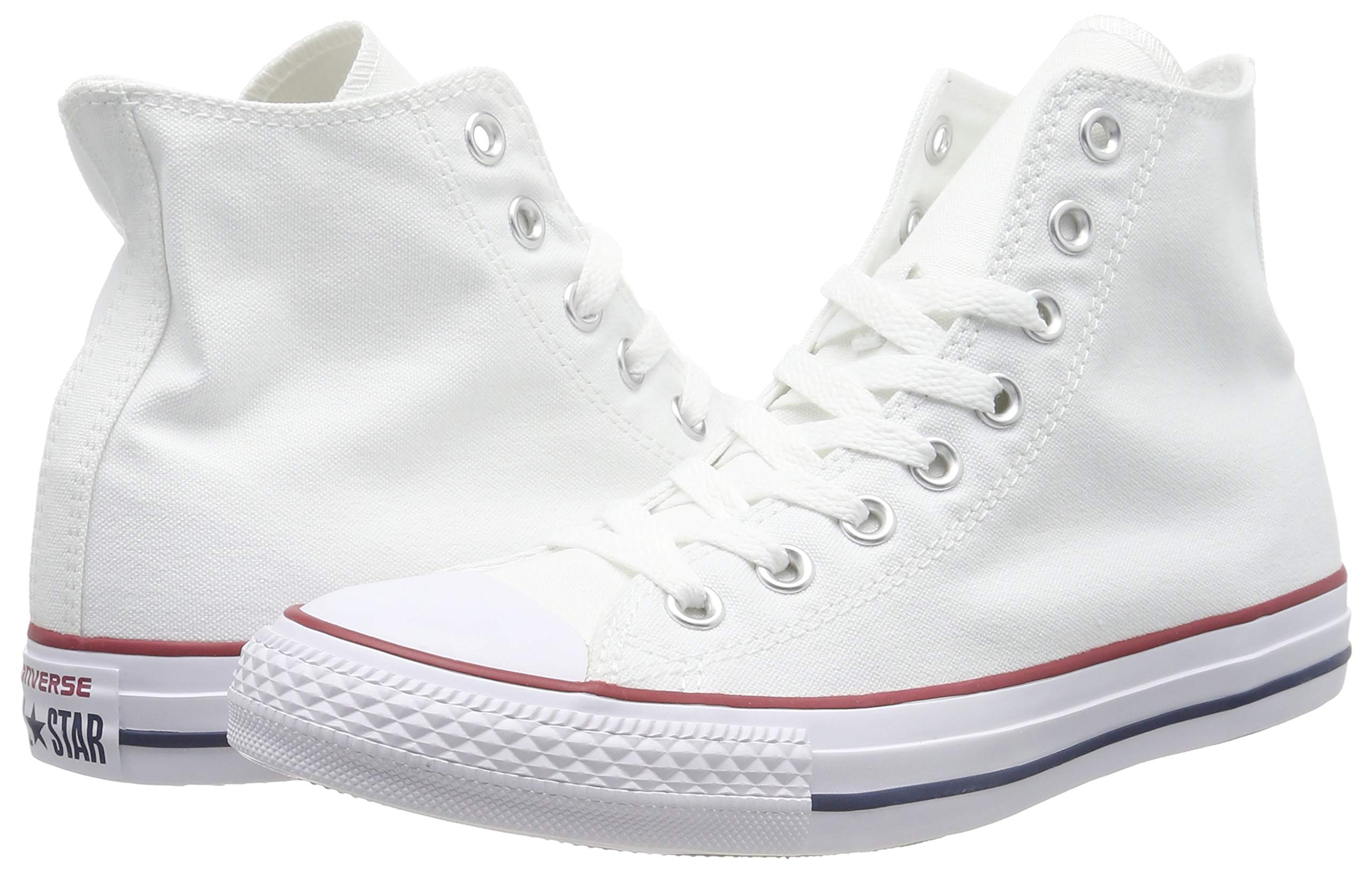 Converse Chuck Taylor All Star Canvas High Top,Optical White, 5.5 Women/3.5 Men