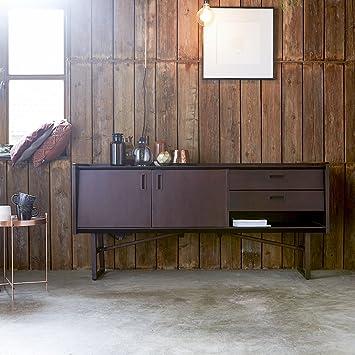 Mueble TV Madera Maciza en Teca 160 cm salón Marcus: Amazon ...