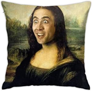"HAOYINGJUN Nicolas Cage Pillow Case 18"" x 18"" Inches Covers for Bedroom Safa Gifts, Double-Sided Printed (Pillow Core not Included)"