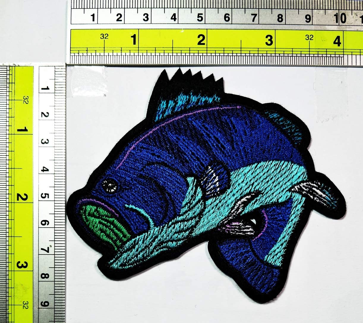 PARITA Green Lemon Flavored Ice Cream Fruit Cartoon DIY Sewing on Iron on Embroidered Applique Patch Emblem Fabric Hat Bag Backpacks Clothing or Reward Gift Kids Adults