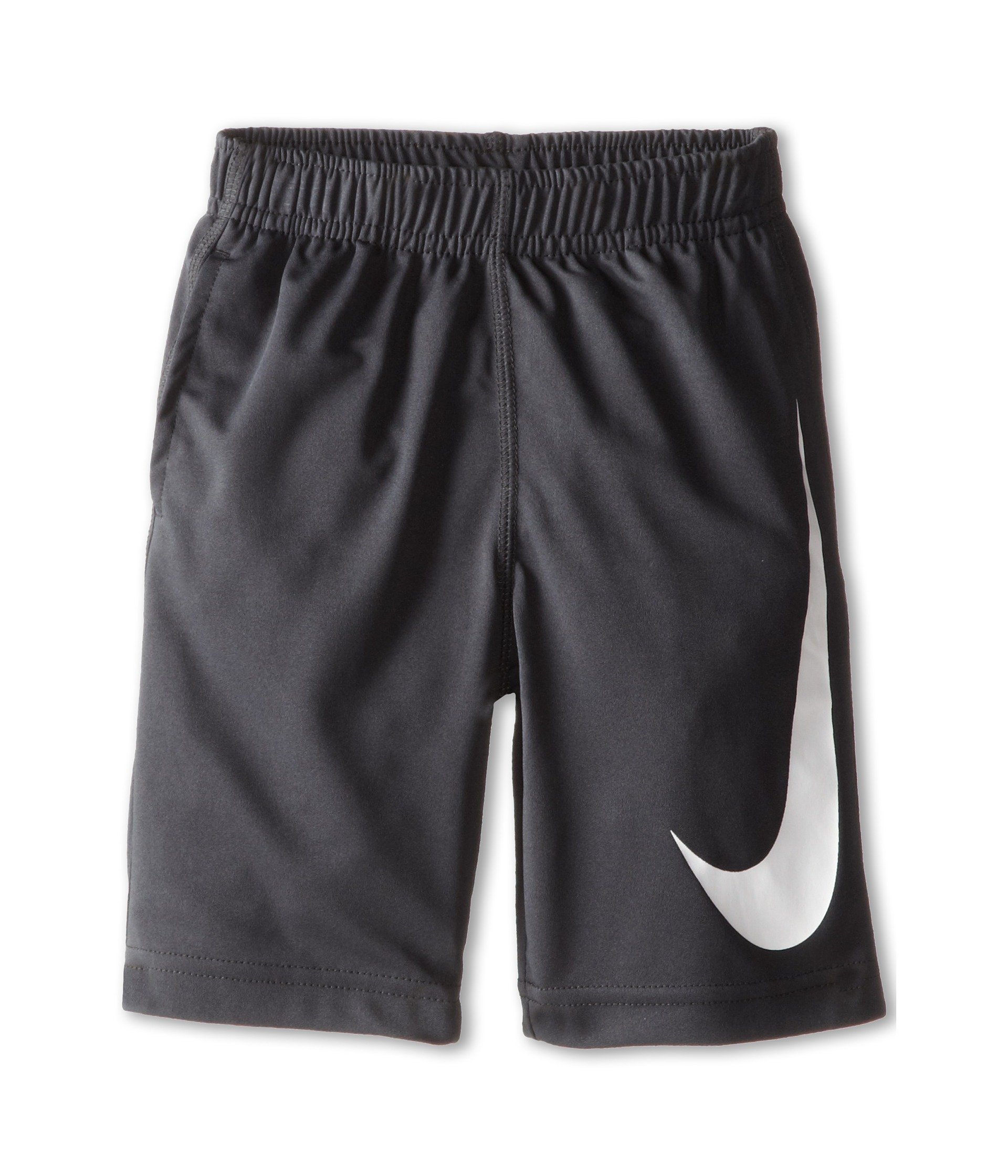 Nike Kids Boys' Performance Swoosh Shorts (Little Kids), Anthracite, 6 by Nike