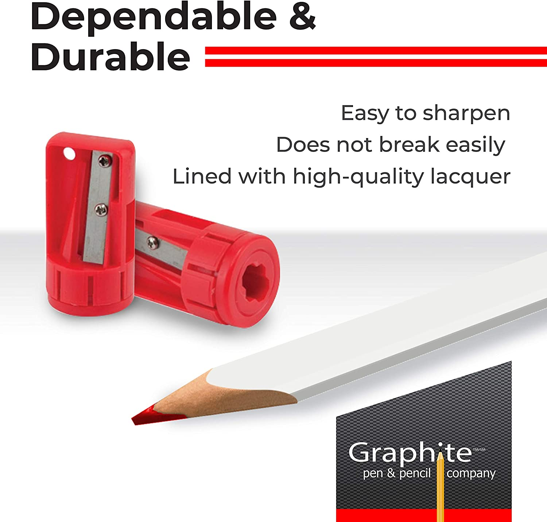 Top quality 36 X Rexel Blackedge Carpenters Pencils Medium Grade Red