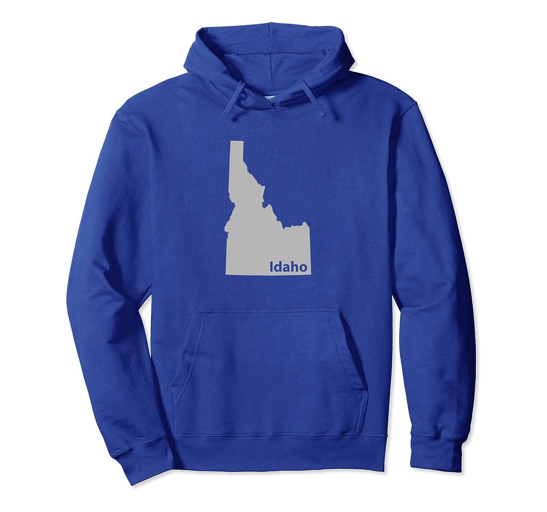 Idaho State Outline Travel Hoodie-ln