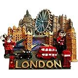 Detailed 3-D London City Scene Collectible UK Magnet Souvenir! Souvenir / Speicher / Memoria! Memorable, Classic British UK Collectible Magnet! Here's a Memorable London Souvenir! Aimant / Magnet / Magnete / Imán!