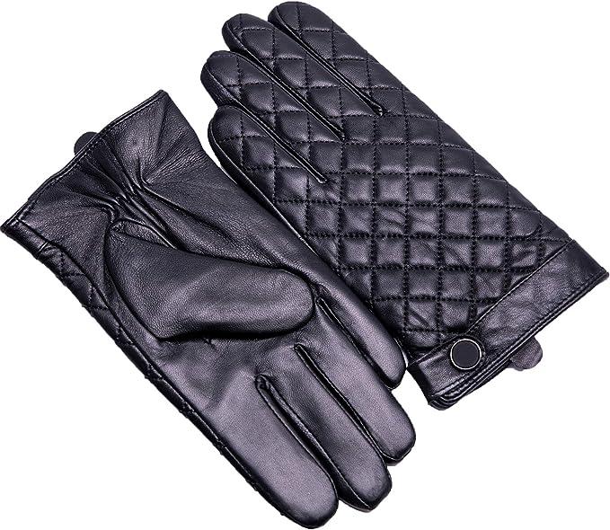 Guanti da uomo compatibili  touchscreen , pelle di montone WM037-BK085