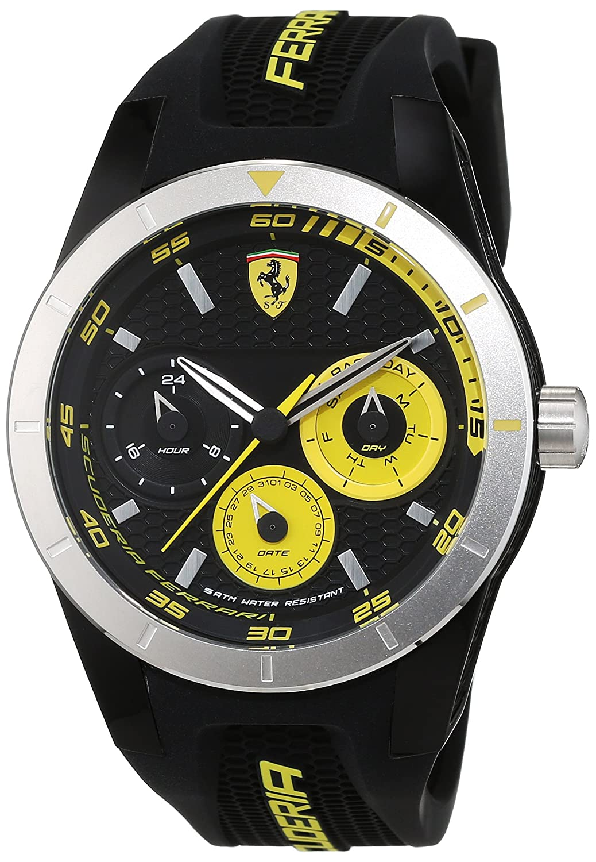 Scuderia Ferrari Orologi Herren-Armbanduhr Red Rev T Analog Quarz Silikon 0830257