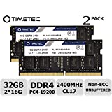 Timetec Hynix IC 32GB Kit (2x16GB) ノートPC用メモリ DDR4 2400MHz PC4-19200 1.2V CL17 2Rx8 260pin SODIMM 永久保証32GB Kit (2x16GB)