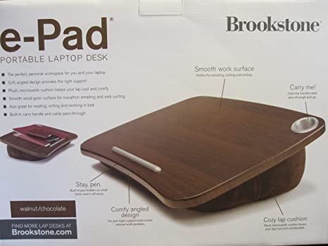 Amazon Com Brookstone E Pad Portable Laptop Desk Home