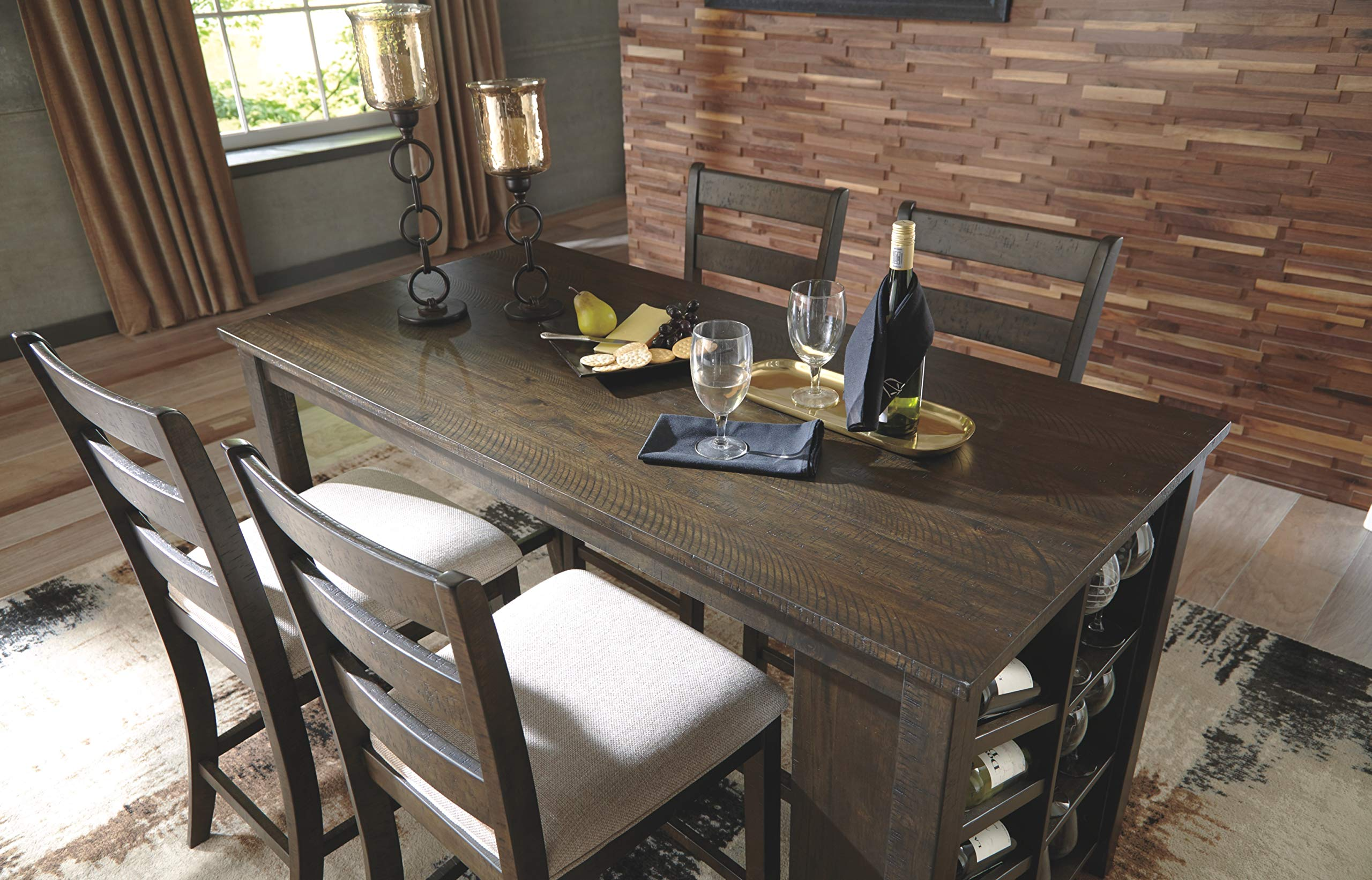 Signature Design by Ashley D397-32 Rokane Counter Height Dining Room Table, Brown by Signature Design by Ashley (Image #3)