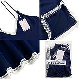 Ekouaer Satin Sleepwear Women Babydoll Lingerie Pjs