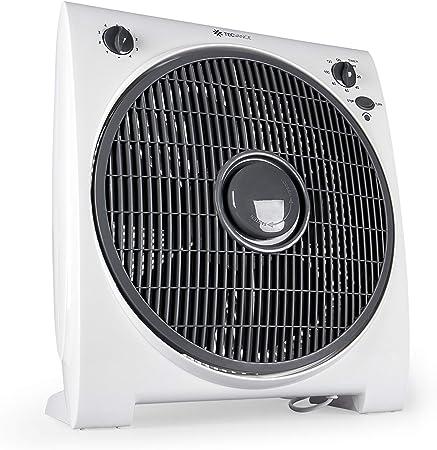 Tecvance TV-6633 Ventilador de Mesa o Suelo-Box Fan-Extra Silencioso y Potente-4 Velocidades-Temporizador-32cm Diámetro, Blanco, 1 unidad: Amazon.es: Bricolaje y herramientas