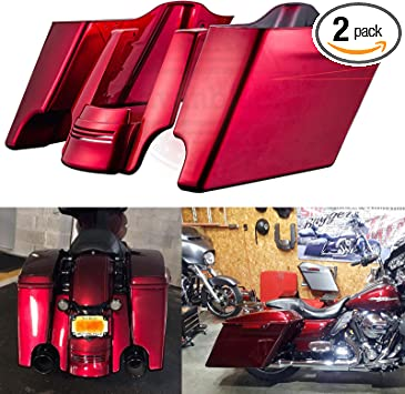 XFMT Black Hard Saddlebag Bags Latch Cover Face Compatible with Harley Road King Tour Glide 1994-2013