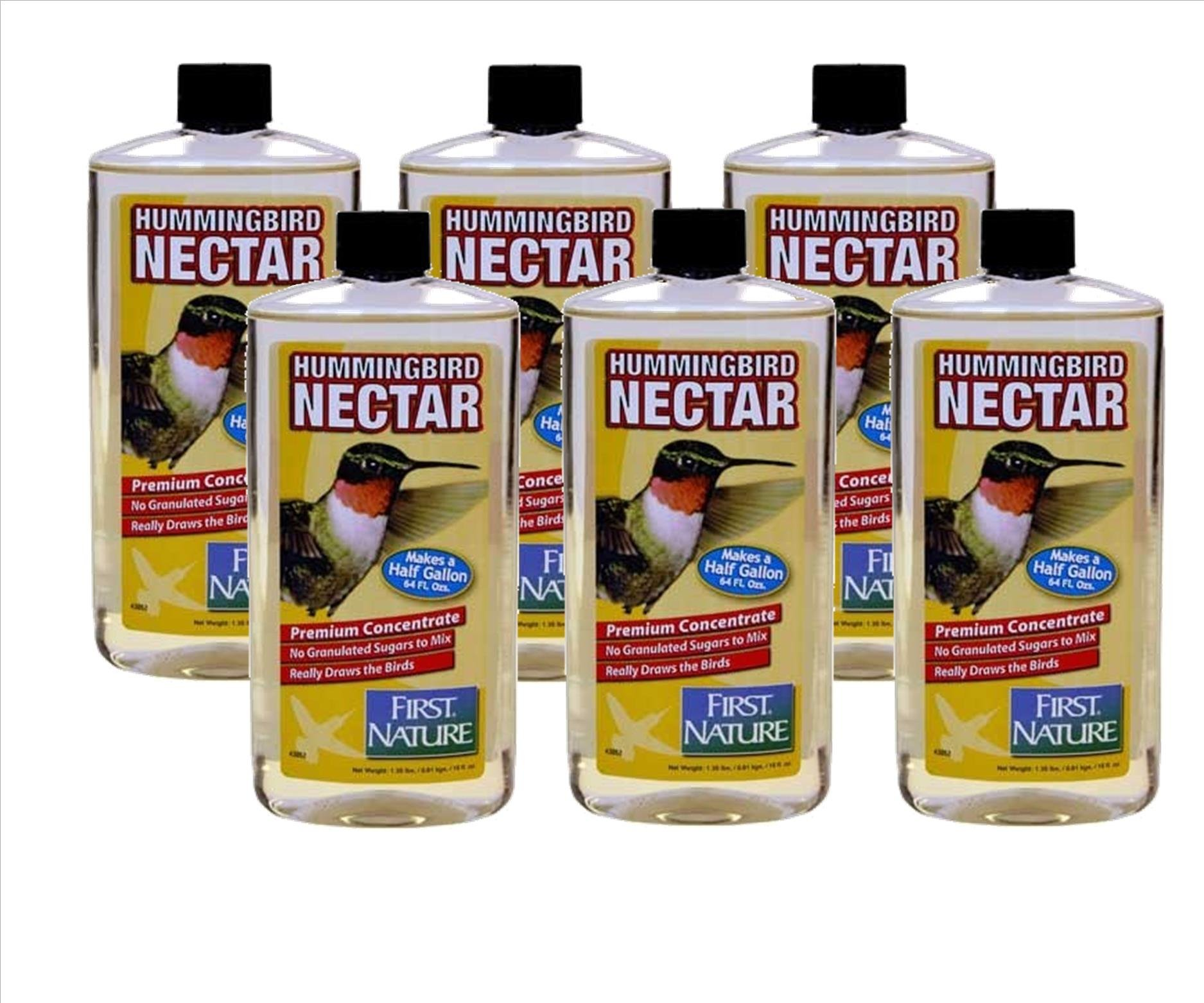 First Nature 6 Ea 16 Oz Clear Hummingbird Nectar Concentrate 3052