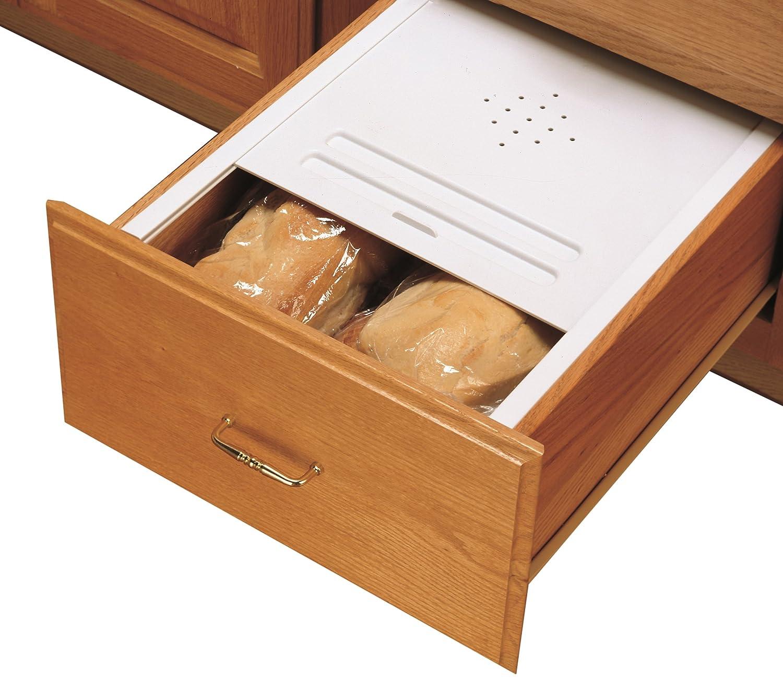 Tin bread box drawer insert - Amazon Com Rev A Shelf Small Bread Drawer Cover Kit Organizers White