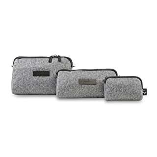 JuJuBe Be Set Travel Accessory Bags Onyx Collection, Gray Matter, One Size