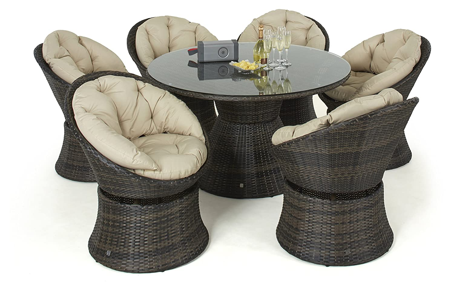 maze rattan 6 sitz set esstisch drehstuhl g nstig bestellen. Black Bedroom Furniture Sets. Home Design Ideas