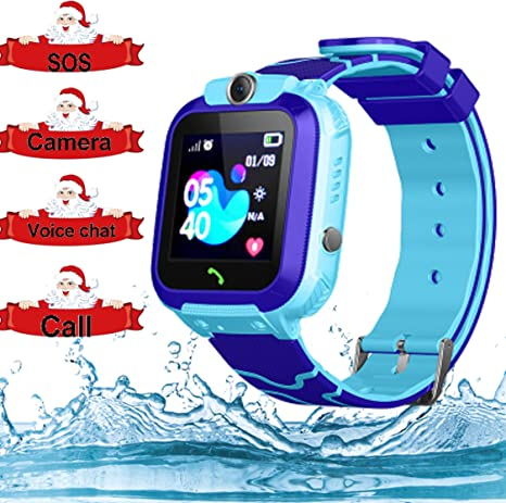 Smart Watch for Kids GPS Tracker - IP67 Waterproof Smartwatches with SOS Voice Chat Camera Flashlight Alarm Clock Digital Wrist Watch Smartwatch Girls ...