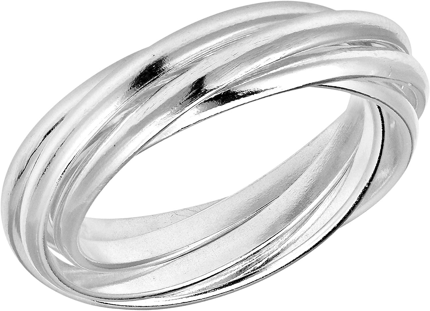 Sterling silver bracelet with  five inter-connected bangles
