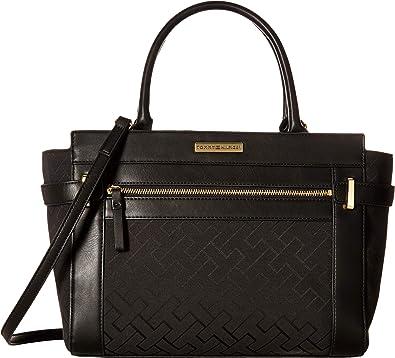 64f3470f5728 Tommy Hilfiger Women s Claudia Convertible Shopper Black Tonal One Size   Handbags  Amazon.com