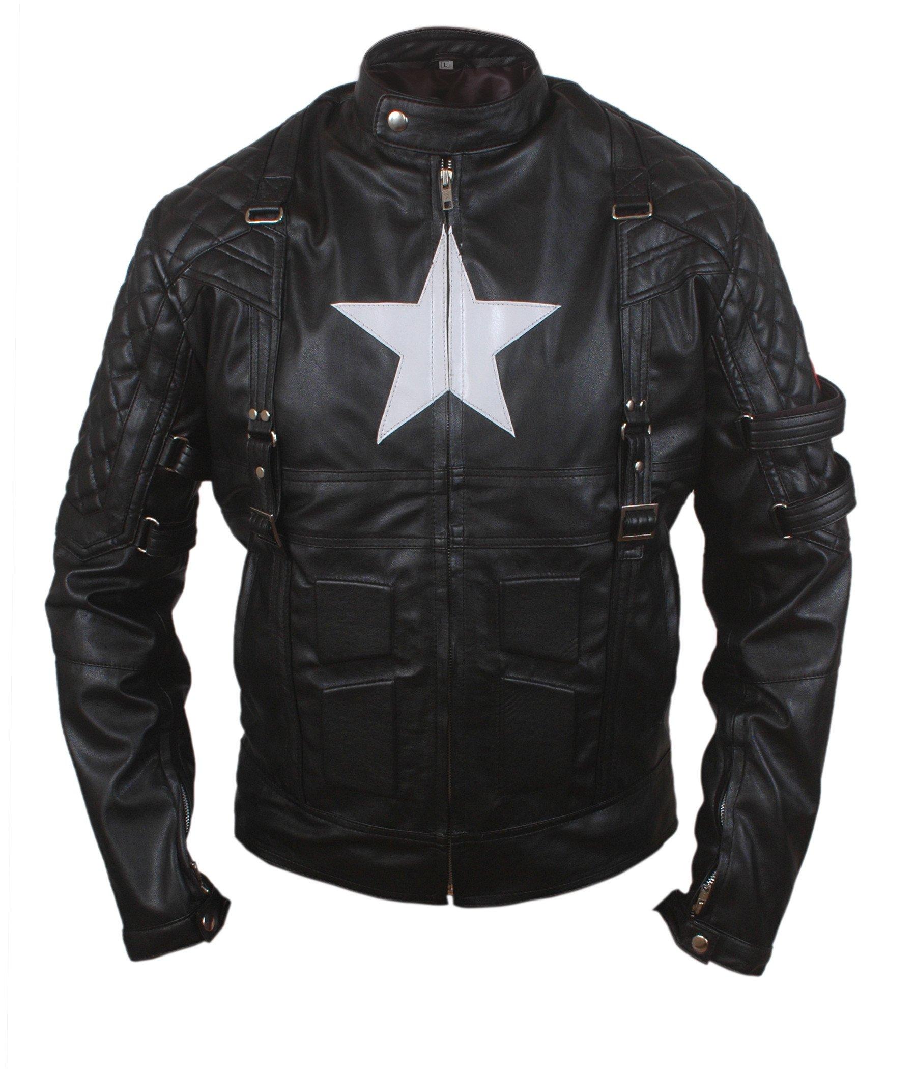 Flesh & Hide F&H Boy's Captain America Age of Ultron Genuine Leather Jacket XXS Black