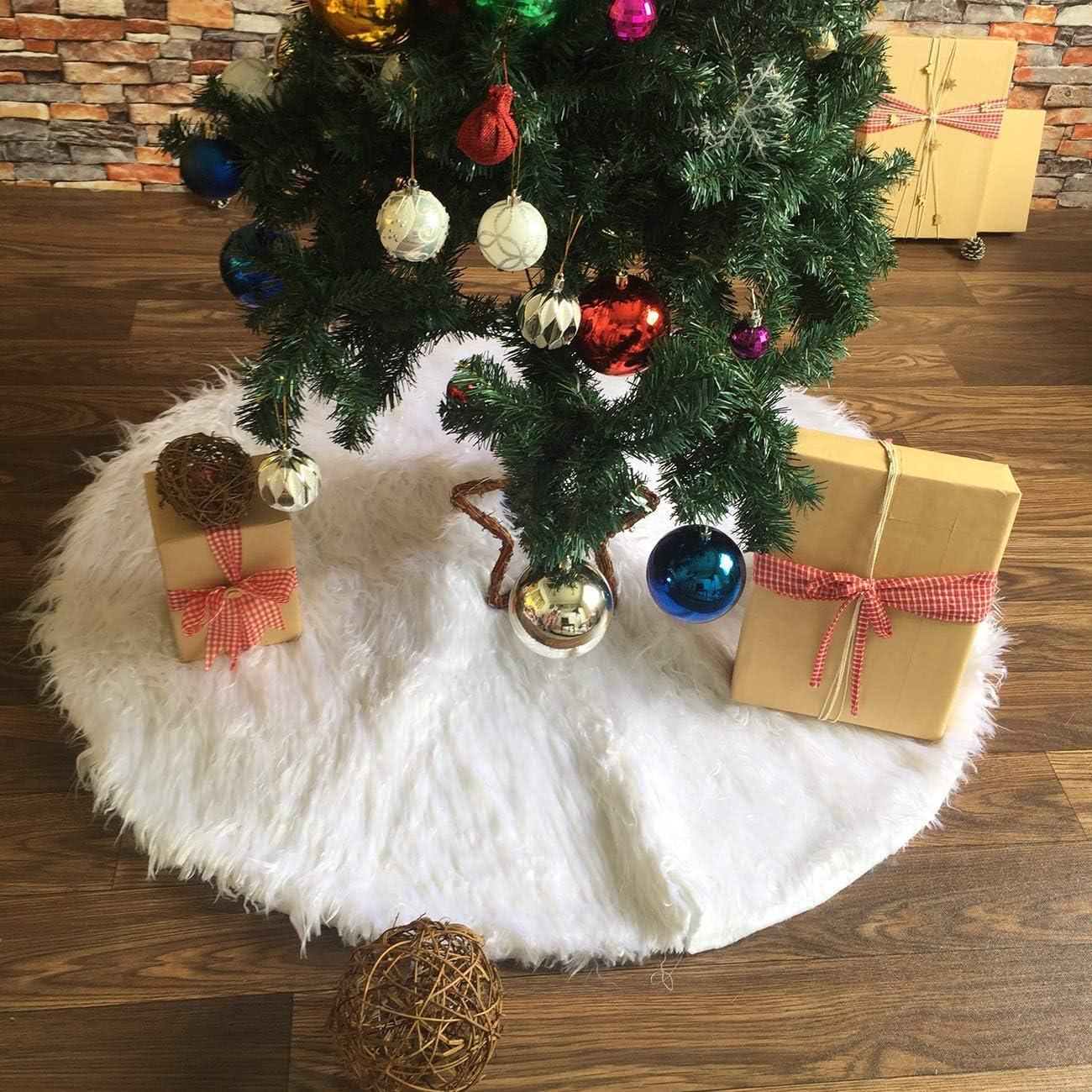 MILIER Falda de Árbol de Navidad, Falda de Árbol de Piel Sintética ...