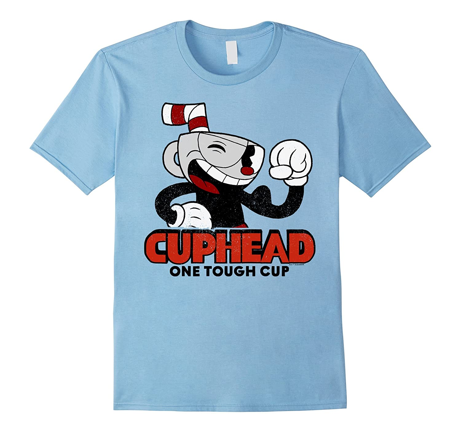 Cuphead Muscle Up One Tough Cup Profile Pose Graphic T Shirt RT
