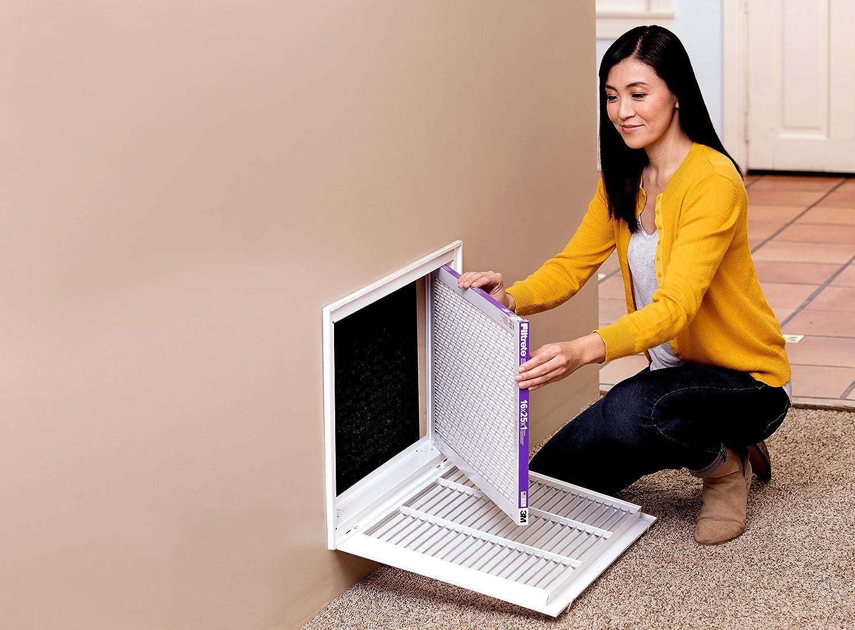 Filtrete 20x25x4 MPR 1550 DP AC Furnace Air Filter Healthy Living Ultra Allergen Deep Pleat 2-Pack SlimFit